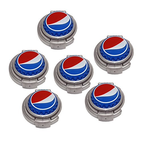 Jokari 6 Count Pepsi Modern Logo Soda Can Pump and Pour, Red/White/Blue by Jokari