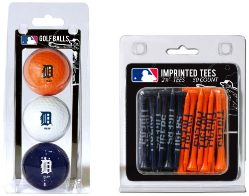 - Team Golf MLB Detroit Tigers Logo Imprinted Golf Balls (3 Count) & 2-3/4