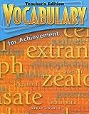 Vocabulary for Achievement, Margaret Ann Richek, 0669517623