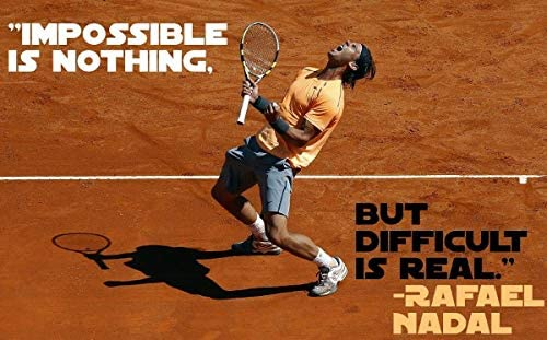 United Mart Poster Rafael Nadal Quotes Print Album Cover Poster Size 12 X 18 Inch Rolled Poster Amazon Ca Home Kitchen