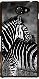 Funda para Sony Xperia M2 - Animales De La Cebra De África by WonderfulDreamPicture