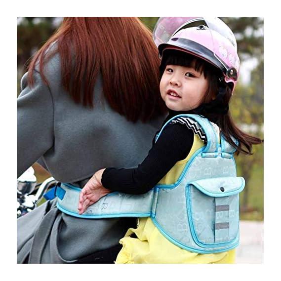 popo Two Wheeler Child Safety Seat Belt, Baby Cuddler (Blue)