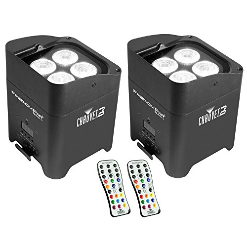 Price comparison product image Chauvet DJ Freedom Par 4 Wireless Battery Wash Light Effect w/ Remote (2 Pack)