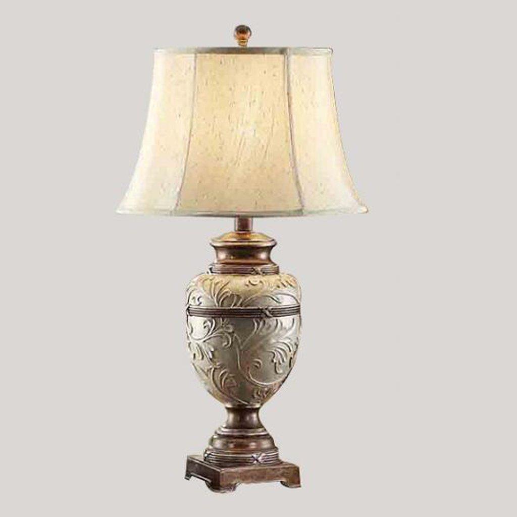 Tischlampe European American Vintage chinesische Luxus-Mode kreative Schlafzimmer Wohnzimmer Tischlampe Klassische Moderne Schöne und praktische Schreibtischlampe