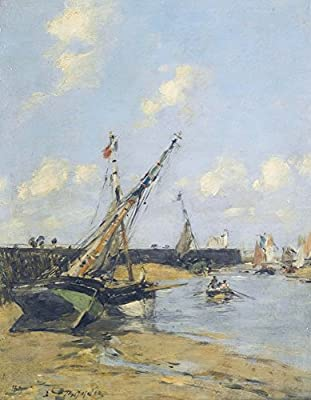 Trouville, the Jetties in Harbour, 1889-24 x 32 Inch Poster