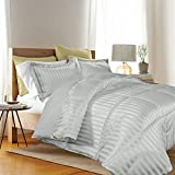 Kathy Ireland Home Essentials 3 Piece Reversible Down Alternative Comforter, King, Bone