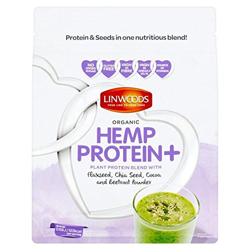 Linwoods Organic Hemp Protein+ Flax Chia Cocoa & Beetroot Powder - 360g (0.79lbs)