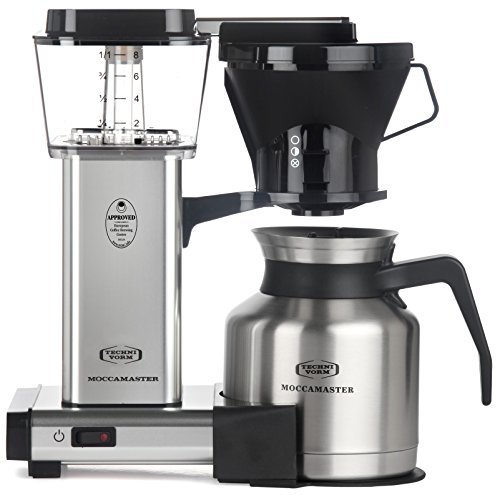 Technivorm Drip Coffee Maker - Technivorm Moccamaster 79212 Coffee Machine, 32 oz, Polished Silver