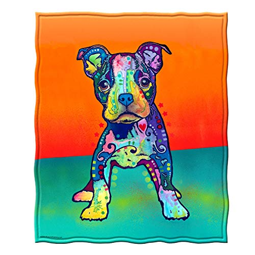 Dawhud Direct Fleece Throw Blanket by Dean Russo (On My Own Puppy)