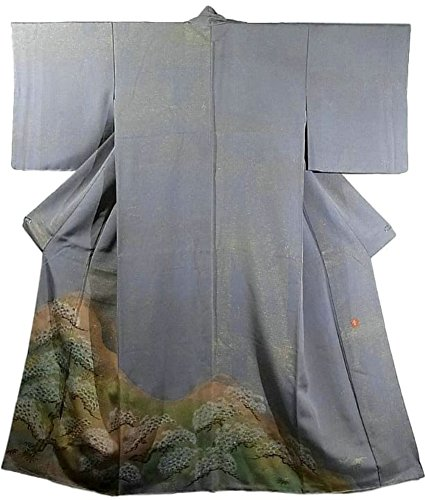 アブストラクト性差別お世話になったリサイクル 着物 色留袖 花井幸子氏 遠山に松や笹模様 正絹 袷 裄66cm 身丈155cm