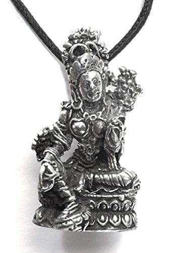 Tara Mother Goddess Compassion Buddhism Pewter Pendant Charm Necklace ETM-533