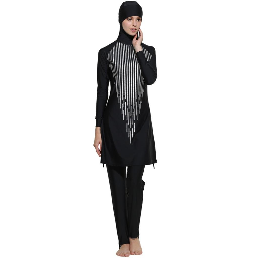 Mitlfuny Frauen Muslime Muslimische Islamischen Full Cover Badeanzug Bademode Schwimmanzug Swimsuit Swimwear Beachwear Burkini