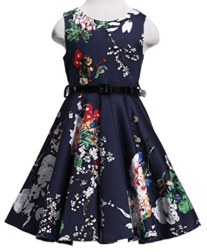 Happy Rose Girl's Dress Vintage Party Floral 14 ()