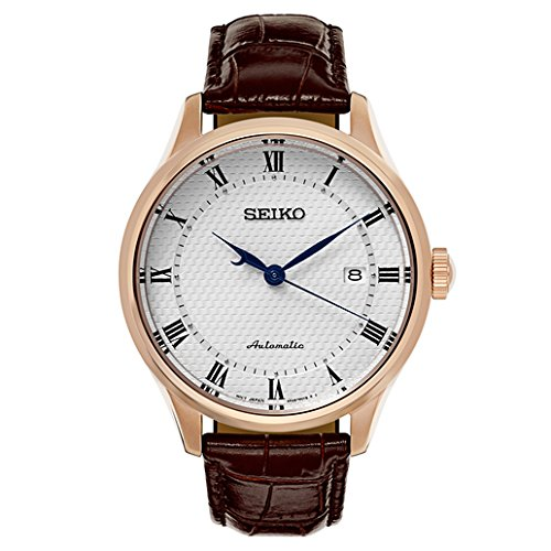 Seiko-Mens-Classic-Dress-Japanese-Automatic-Stainless-Steel-and-Leather-Casual-Watch-ColorBrown-Model-SRP772