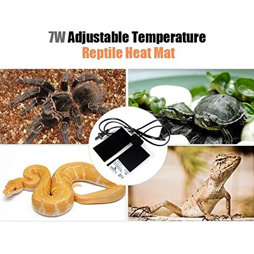 Temperature Control Products - 7W/14W/20W Reptile Heater Pads Adjustable Temperature Heating Warmer Mat for Pet Snakes Lizard Gecko Spider Crawler Cushion - by Tini - 1 PCs