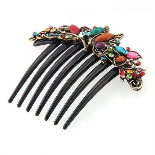 FACILLA Flower Mix Color Metal Rhinestone Chinese Stylish Wedding Hair Pin Hair Comb Hair Clip 422