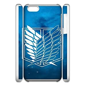 iphone5c 3D Cell Phone Case White Cartoon Attack On Titan Plastic Durable Cover Cases derf6982113