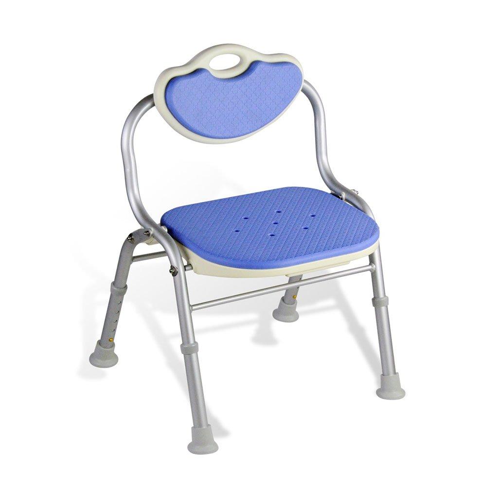 経典ブランド 安全快適背もたれ折りたたみ式バスチェア高齢者/身体障害者/妊娠可能な調節可能な高さアルミ合金バススツール滑り止めチェアMax。 B07FLTF7XP 80kg(ブルー) B07FLTF7XP, コウヤギチョウ:e7e379a2 --- ciadaterra.com