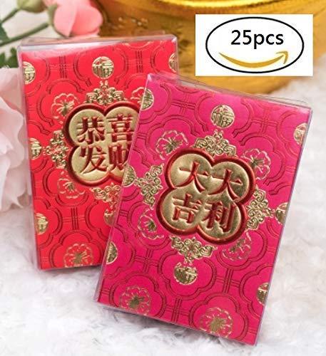Amazon.com: Sobre rojo chino de año nuevo, paquete rojo de ...
