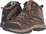 Columbia Women's Crestwood Mid Waterproof Hiking Boot, Pebble, Oxygen, 10 Regular US