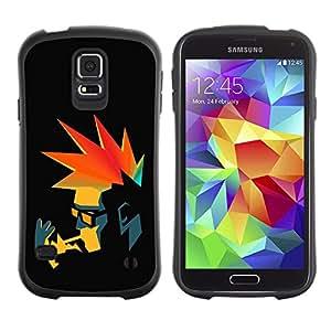 """Hypernova Slim Fit Dual Barniz Protector Caso Case Funda Para Samsung Galaxy S5 [Punk Fumador retro""""]"""