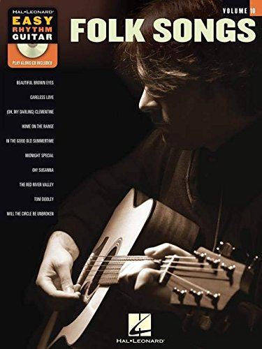 Folk Songs: Easy Rhythm Guitar Series Volume 10
