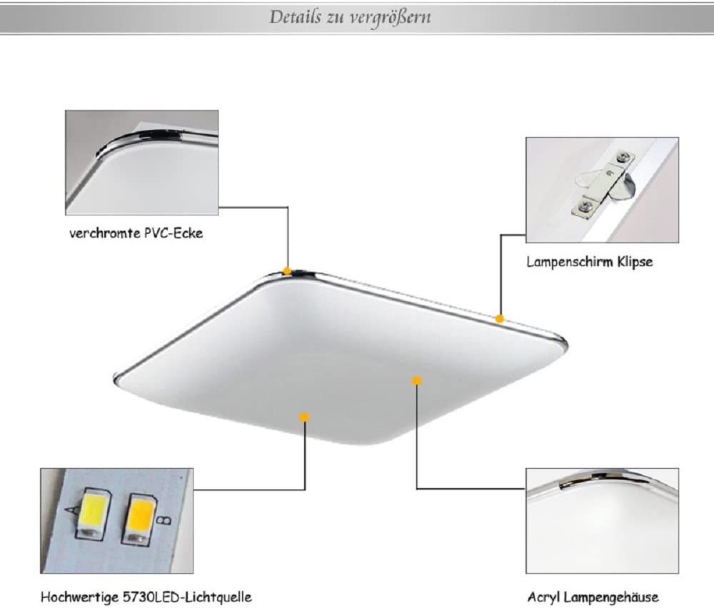 Hengda® 64W lámpara de techo blanco cálido lámpara de techo modernas lámpara de techo para salón lámpara de techo comedor lámpara de techo infantil lámpara de techo cocina lámpara 2700-3500K: Amazon.es: Iluminación