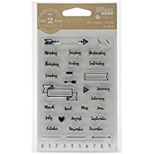 """Day 2 Day Planner Clear Stamps 3.5""""X6""""-Calendar"""