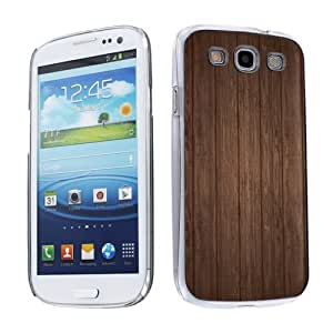 Samsung Galaxy S-III S3 Hard Plastic Back Cover Case ( will fit AT&T, Verizon, Sprint, T-Mobile, U.S Cellular, International GSM ) Brown Wood