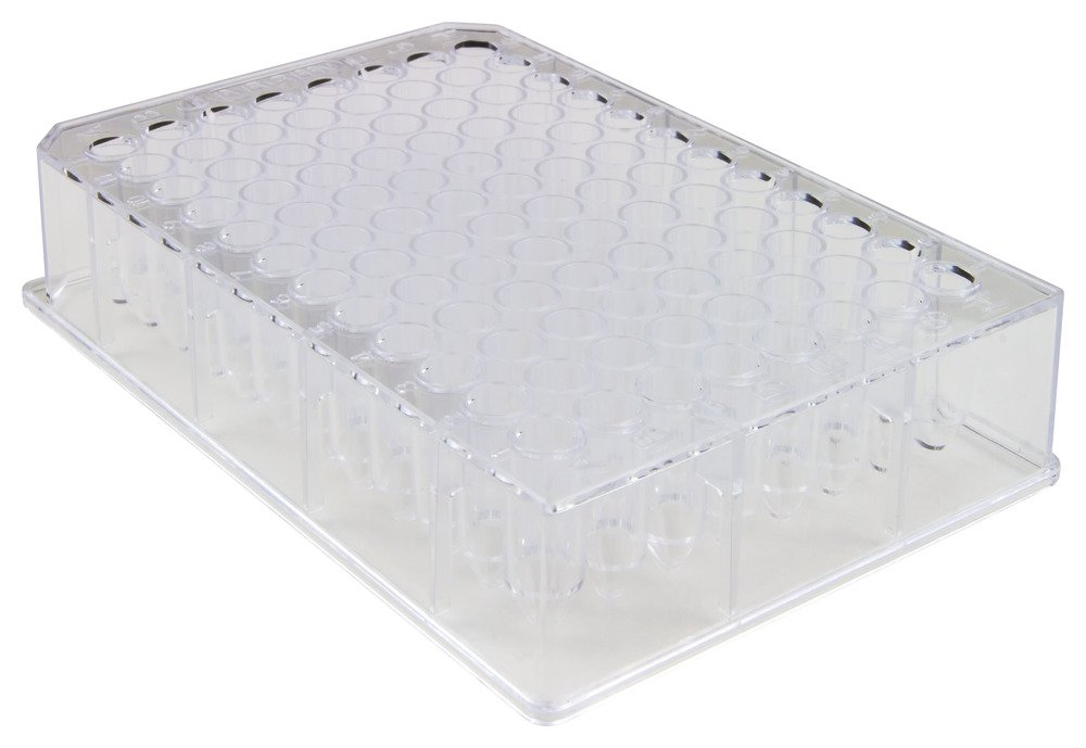 Caplugs Evergreen 222-8636-010 Sterile 96-Well Deep-Well Plates. Polystyrene, Natural, Bag pack by Caplugs