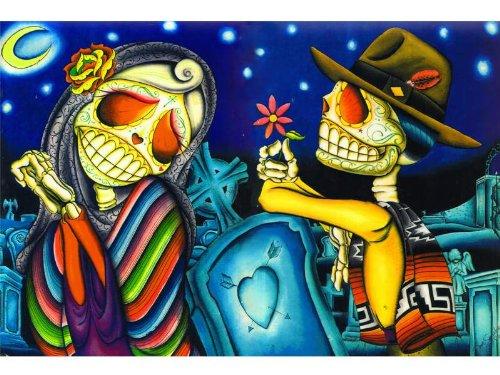 Noche de los Muertos by Dave Sanchez Day of the Dead Lovers Fine Art Print