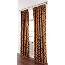 Stylemaster Renaissance Home Fashion Darby Pinch Pleated Drape Pair, 96 by 84-Inch, Café