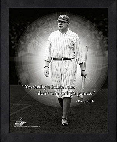 "Babe Ruth New York Yankees ProQuotes Photo (Size: 9"" x 11"") Framed"