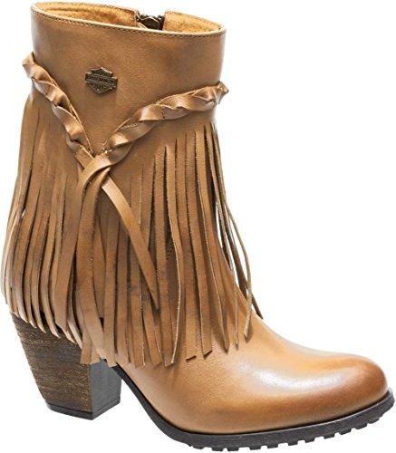 Harley-Davidson Women's Retta Fashion Boot, Tan, 8 Medium US