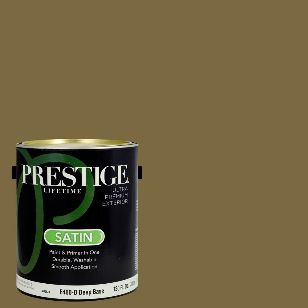 Prestige Paints Exterior Paint and Primer In One, 1-Gallon, Satin,  Comparable Match of Sherwin Williams Eminent Bronze
