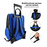 Pet Travel Rolling Luggage Carrier Bag Backpack for Dogs,Cats & small animals(Blue)