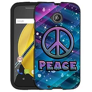 Motorola Moto E LTE Case, Snap On Cover by Trek Peace on Neon Disco Tech Pattern Case
