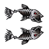 WINOMO 2Pcs 10x5 inch Fish Skeleton Decals Sticker...