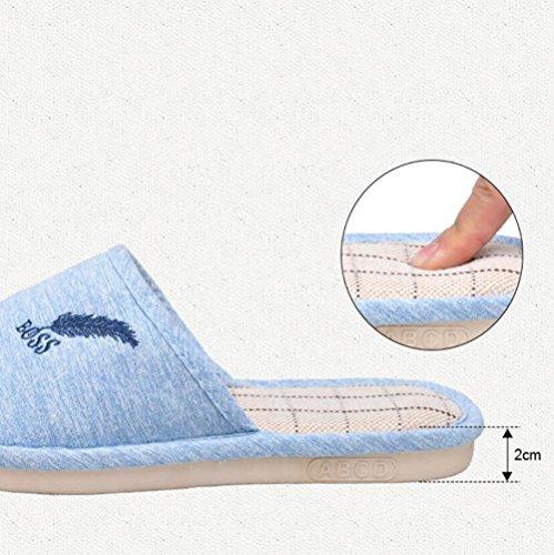 Blue Pink Accueil Couples Anti Plates 39 38 Confortable Chaussures SHANGXIAN Slip Femmes Pantoufle Respirant Chaussons Intérieur Hommes tw6SOqa
