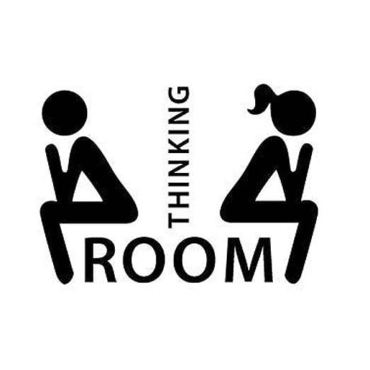 Equipster Pegatinas para la Puerta del WC Thinking Room ...