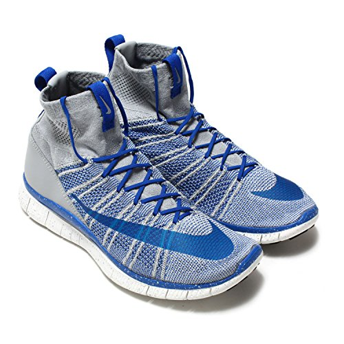 Nike Free Flyknit Mercurial Mens Running Sneakers Lupo Grigio Gioco Royal