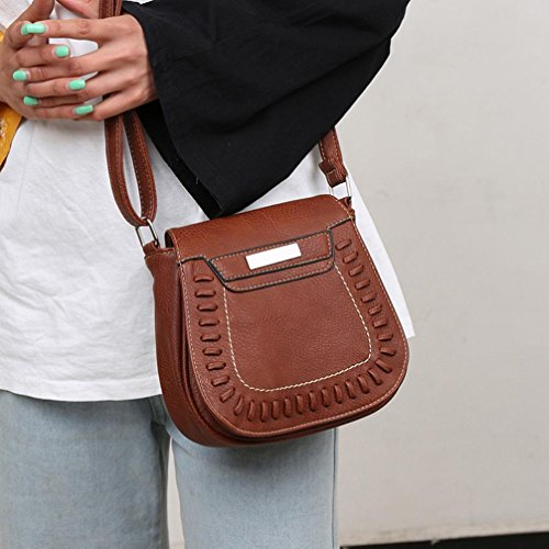 Tote Leather Strap Messenger Purses Theft Brown VEMOW Girl Clutches Pure Bags Women Bag Handbag Anti Satchel Bags Bag Phone Shoulder Crossbody Vintage Purse Backpacks Color 8q1fvv