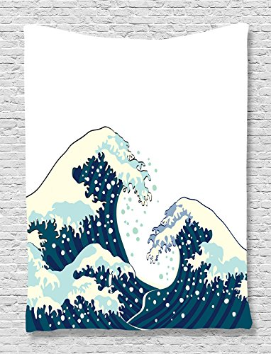 Tapestry Kanagawa Ambesonne Illustration Accessories
