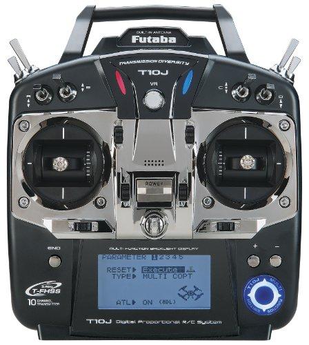 Futaba 10JA 10-Channel 2.4GHz Mode 2 Air T-FHSS Computer Radio Transmitter with R3008SB -