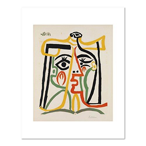 Tête de femme (Head of a Woman) by Pablo Picasso, 1962. Art Print
