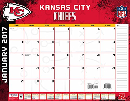 "Turner Licensing Sport 2017 Kansas City Chiefs Desk Pad Calendar, 22""X17"" (17998061540)"