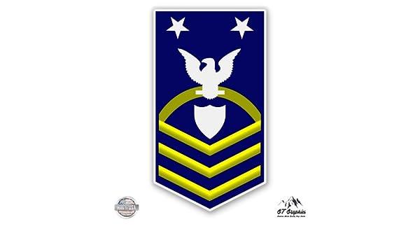 USCG US Coast Guard SCPO COmmand Master Chief Petty Officer E-9 Rank Vinyl Sticker Waterproof Decal