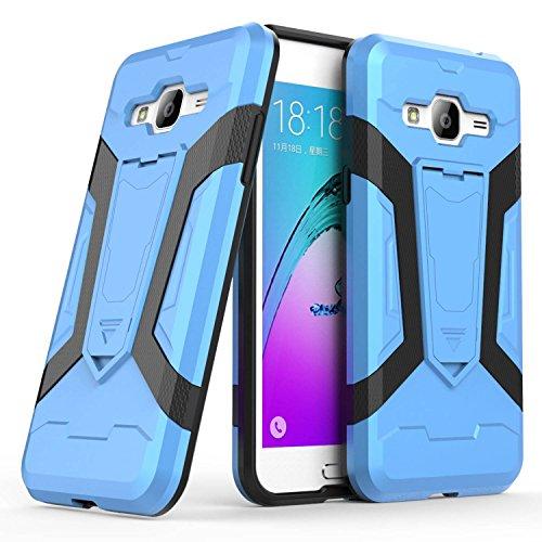 Funda Para Samsung J7 2017 (Euro Version) J730 , Guran® Alta calidad cáscara del teléfono manguito protector bicapa mixto resistente a los golpes anti-deslizamiento TPU+PC (Verde) Azul
