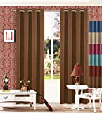 Cheap Sideli Thermal Insulated Solid Blackout Curtain Window Treatments Panels Grommets with Multi Size Multi Color (One Panel) (52″Wx63″H, Chocolate)