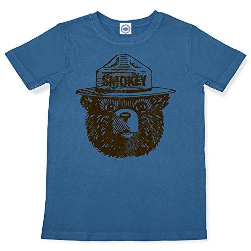 (Hank Player U.S.A. Official Smokey Bear Kid's T-Shirt (6, Slate)